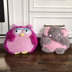 Adorable Kids Pillows Elephant Owl